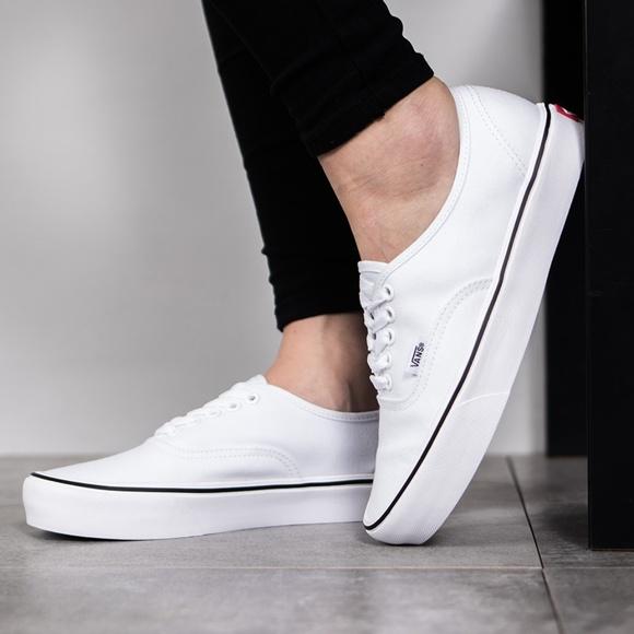 Vans Shoes | Nwt Vans Authentic Lite Canvas White W Authentic ...